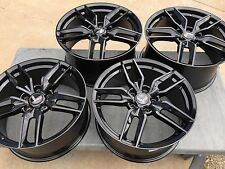 Black 19/20 C7 Z51 R Corvette Stingray Wheels for 2005-2013 C6