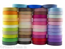 "235 yards (215 meters) Grosgrain Ribbon 10mm (3/8"") 47 Colour Scrapbooking Craft"