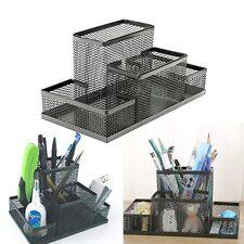 Boîte Pot à Crayons Stylo Pinceau Bureau Rangement Stockage Porte Pen Holder