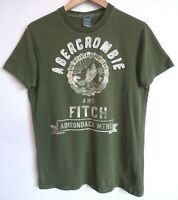 Vtg 90s Y2K Abercrombie and Fitch Adirondack Green Preppy Muscle T-Shirt Large L
