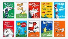 DR SEUSS 10 BOOKS FABRIC PANEL! HOP ON POP~GREEN EGGS~LORAX~HORTON~GRINCH~MORE