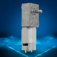 High Torque Low Speed 5±10%rpm Electric Turbo Gear Motor DC 12V Reversible IP54