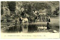 CPA Auvergne 03 Allier Environs de Vichy Route des Malavaux passage de gué animé