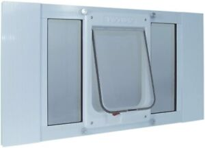 "Ideal Pet Aluminum Sash Chubby Cat Flap Pet Door Med White 1.25"" x 23"" x 10.75"""