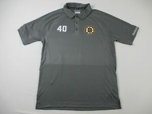 Boston Bruins Fanatics Polo Shirt Men's Gray Poly Used L|#40