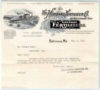 1916 BALTIMORE MARYLAND*MD*HUBBARD FERTILIZER CO*EDWARD HART*TOWNSEND DELAWARE