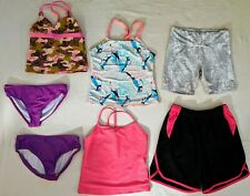 Lot Of 7 Girls Size 6-8 Swim Suits- Shorts Marika Ocean Pacific SS