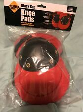 Red Black Cap Knee Pads Padded New , Gardening, Construction , Etc Fast Shipping
