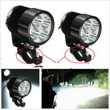 2 Pcs 4LED White Motorcycles ATV Driving Headlight Spot Lamps With Mount Holder