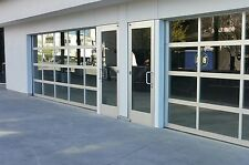 Full View [18' x 7'] Anodized Aluminum & Tempered Clear Glass Garage Door