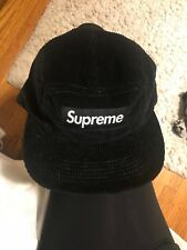 New Supreme Cordura Camp Cap Black SS18 Hat