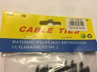 100 PK HEAVY DUTY CABLE TIES BLACK NYLON- 20 CM LONG 5 MM WIDE FREE POST