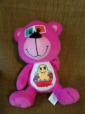 "Peek A Boo Toys 10""  Pink Teddy Bear Stuffed Animal w/ Pac-man T-shirt"