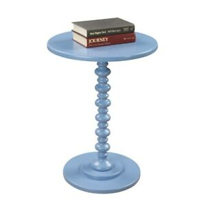 Convenience Concepts Palm Beach Spindle Table, Blue - 131355BE
