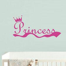 Wall Decal Princess Crown Nursery Inscription Letter Cartoon Cheerful M609