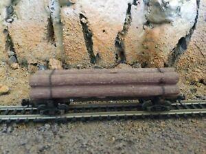 N Scale Intermountain 40' skeleton log car SOO SOO LINE mtl cplrs
