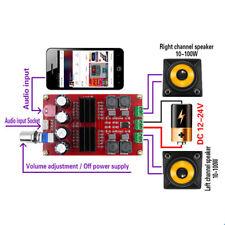 2x100W XH-M190 TPA3116 2 canales Audio Amplificador Amp Board 12V-24V Digital