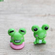 2Pcs Mini искусственный лягушка миниатюры фея сад микро ландшафтный дизайн украшение