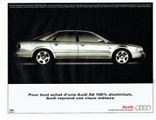 Publicité Advertising 107  1995   Audi A8    aluminium *