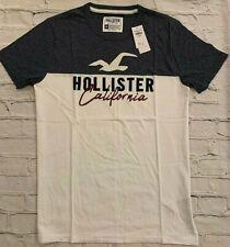 NEW Men's Hollister Applique Logo Graphic T Shirt Short Sleeve Tee M L XL HCO