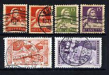 Suisse 1914-18 Guillaume Tell & valeurs élevées groupe SG 280 To SG 298 VFU