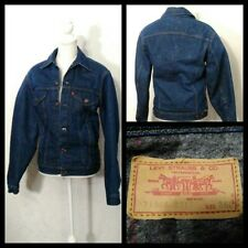 Levi's Denim Jacket Men's Small Blue Blanket Lined Button Front Inv#Z1514