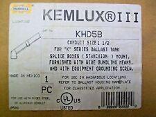 """Hubbell KEMLUX III KHD5B 1-1/2"""" For K Series Ballast Tank Splice Boxes Mount"""