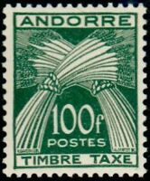 """ANDORRE FRANCAIS STAMP TIMBRE TAXE N°41 """" TIMBRE-TAXE 100F """" NEUF x TB"""