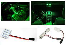 1x T10 & Festoon Universal 12 SMD Neon Green LED Panel Interior Dome Map Light