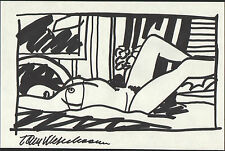 Tom Wesselmann 'Amy in bedroom' Original handsigned study drawing - Provenance