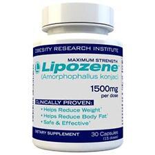 LIPOZENE Maximum Strength 1500mg 30 Capsules Diet Weight Loss Pills 1 bottle