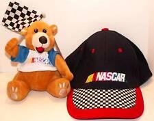 NASCAR Lot: BEAR Bean Bag & Cap! NEW!