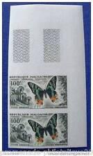 MADAGASCAR stamp aerial yvert and tellier n°81 not serrated - Bloc de 2 - n