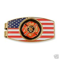 FIRE FIREMAN FIREFIGHTER MALTESE RESCUE RED MONEY CLIP