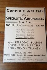 rare Pub Ad 1945 Cameroun Douala colonies CASA Pièces automobiles Fulmen Mixo