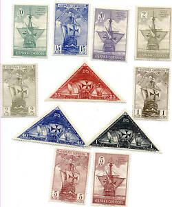 Spain Stamp 1930 Mint Hinged Original Gum Columbus Ships clean