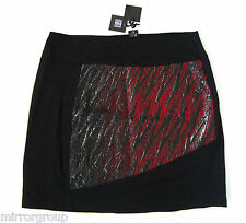 $275 LE GATTE LEGATTE ITALY Black Viscose Skirt US-14/16, IT-48, XL