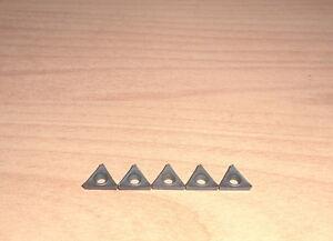 """Wendeplatten f Klemmhalter 8x8, 5-teilig HM turning inserts set 5/16"""" TCMT090204"""