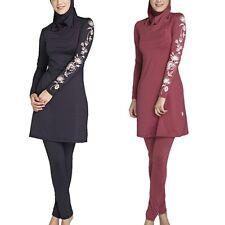 Womens Muslim Islamic Bikini Swimwear Swimsuit Full Cover Bathing Suits Burkini