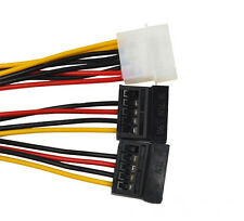 4Pin IDE Molex to 2Serial ATA SATA Hard Drive Power Adapter Cable For PC NVR DVR