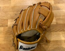 "Franklin Baseball Left Glove 4609 9.5"" Leather Laced Deer Touch - good condition"