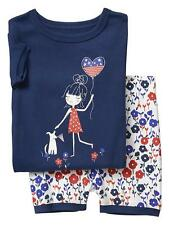 Baby Gap Americana Graphic Knit Pajama Shorts Sleep Set Size 6-12 M NWT