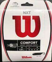 Wilson - WRZ943000 - NXT Comfort 17G Tennis Raquet String - Black