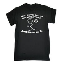 ACID WITH ATTITUDE A-MEAN-OH T-SHIRT geek nerd science funny birthday gift 123t