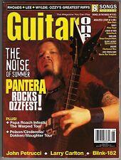 GUITAR ONE MAGAZINE: AUGUST 2000 PANTERA PAPA ROACH OZZY'S GREATEST RIFFS