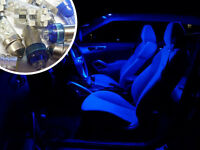 Blue Interior LED Bulb Kit Set Lighting Spare Part Vauxhall Vectra B Sri Gsi V6