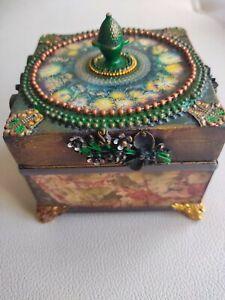 Handmade jewellery wooden box
