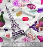By The Yard Moulin Rouge TheFabricEdge Alexander Henry Fabric Eiffel Tower