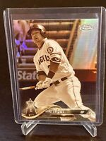2018 Topps Chrome Mike Trout Sepia Refractor Card Los Angeles Angels Mint Holo