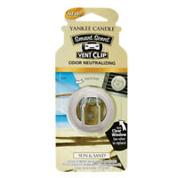 Yankee Candle Smart Scent Vent Clip Car & Home Air Freshener, Sun & Sand Scent